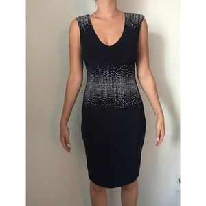CACHE cocktail dress in navy